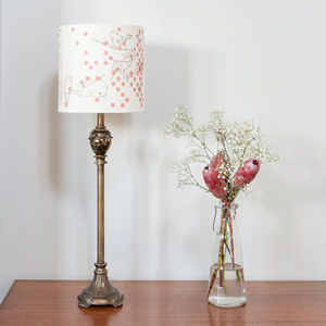 Dotty Bird Luxury Lampshade - office & study