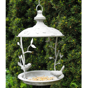 Hanging Steel Bird Feeder - garden
