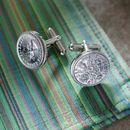 Any Date Lucky Sixpence Cufflinks