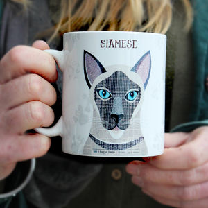Personalised Siamese Cat Mug - pet-lover