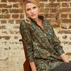 Long Liberty Cotton Shirt - tops & t-shirts