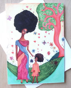 'Love Surrounds' Afro Caribbean Greeting Card