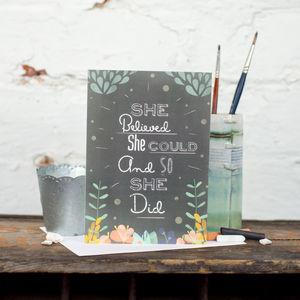 'She Believed' Card