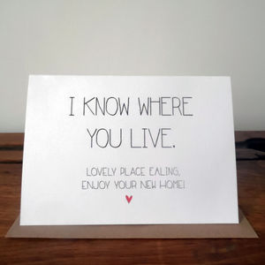 Personalised New Home Card - humorous cards