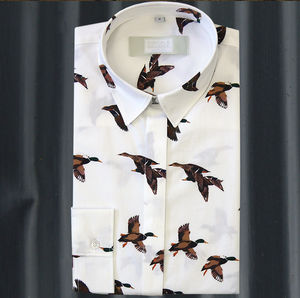 Long Sleeve Mallard Print Shirt