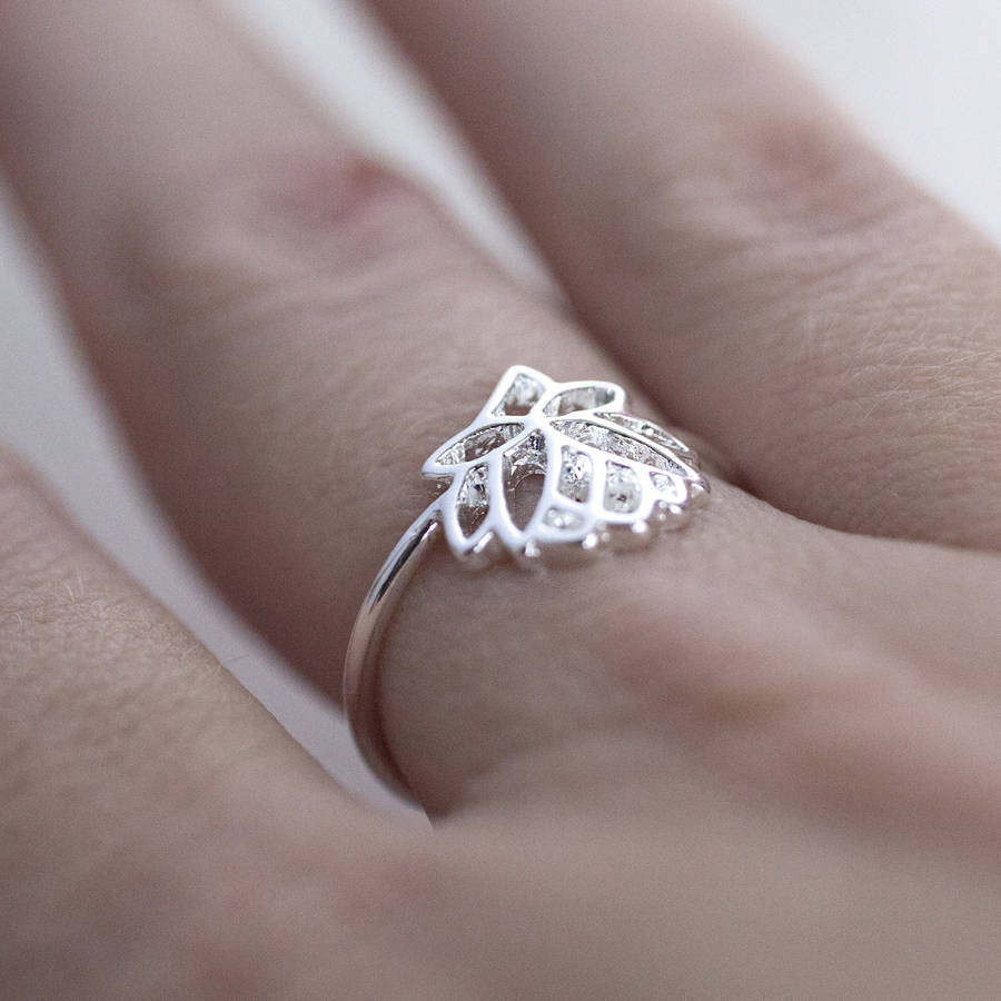 trilogy flower rings engagement ring aimee platinum winstone lotus project