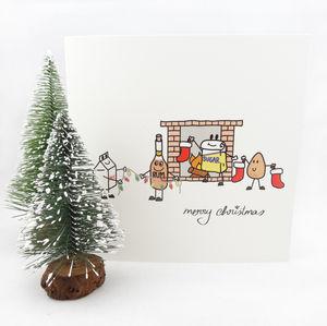 My Little Eggnog Christmas Card - christmas cards