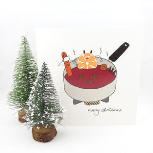 My Little Mulled Wine Christmas Card
