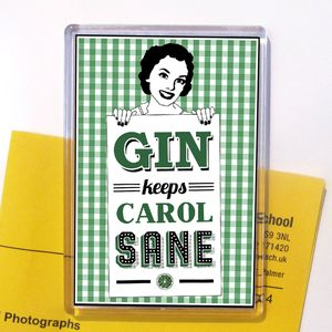 Personalised Gin Fridge Magnet - magnets