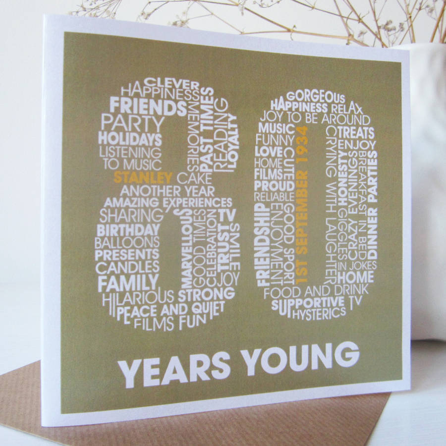 80Th Birthday Card Ideas gangcraftnet – 80 Birthday Card