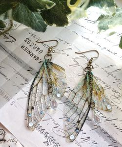 Rather Magical Large 'Faerie wing earrings' - wedding jewellery