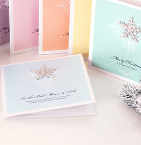 Pack Of Six Venice Snowflake Christmas Cards - christmas cards: packs