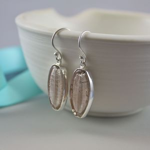 Murano Glass And Silver Lozenge Earrings