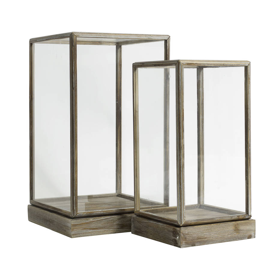 Glass Display Cases Set Of Two By Out There Interiors