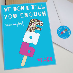 Fab Lolly Oversized Postcard With Sticker - mother's day cards
