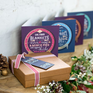 Luxury Foiled Christmas Cards And Gift Box - christmas card packs