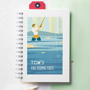 Personalised Fishing Notebook - office & study