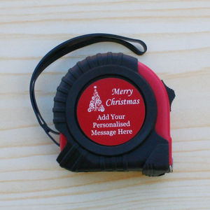 'Merry Christmas' Personalised Tape Measure Gift