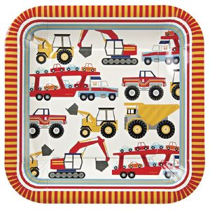 Big Truck Square Party Plates