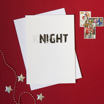 Pack Of Four Silent Night Christmas Cards