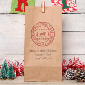 Personalised Nordic Christmas Gift Bag