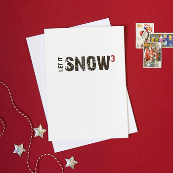 Pack Of Four Let It Snow Christmas Cards