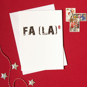 Pack Of Four Fa La Christmas Cards