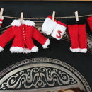 Knitting Kit Santa Outfit Garland