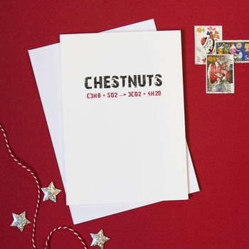 Chestnuts Roasting on an Open Fire Science Geek Christmas Card