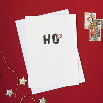 Ho Ho Ho Science Geek Christmas Card