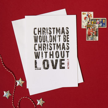 Love Actually Christmas card