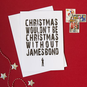 Pack Of Four James Bond Christmas Cards