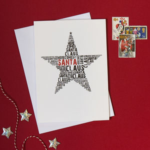 Pack Of Four Star Christmas Cards - christmas cards: packs