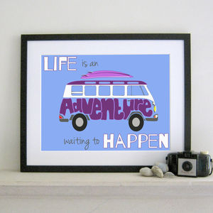 'Life Is An Adventure' Print