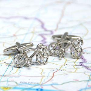 Racer Bike Cufflinks - men's accessories