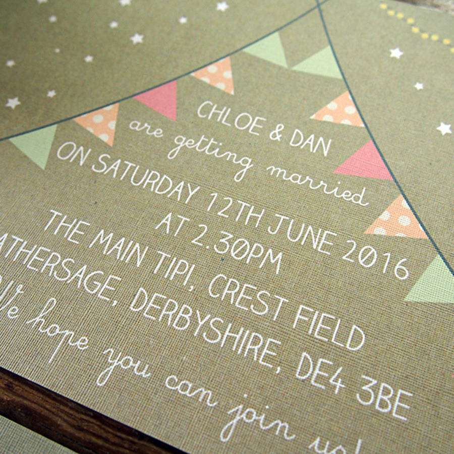 Tipi Wedding Invitation