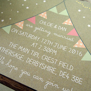 Tipi Wedding Invitation - save the date cards