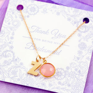 Thank You For Being My Bridesmaid Gemstone Necklace - necklaces & pendants