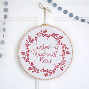 Personalised Christmas Wreath Hoop