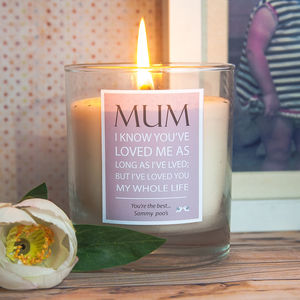 Mothers Day Quotation Candle