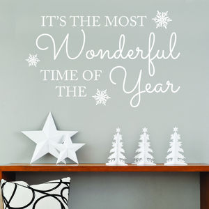 'It's The Most Wonderful Time Of Year' Wall Quote - christmas wall stickers