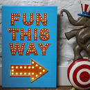 Personalised Fun This Way Illuminated Canvas