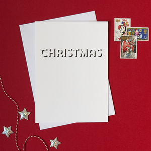 Pack Of Four White Christmas Cards - cards