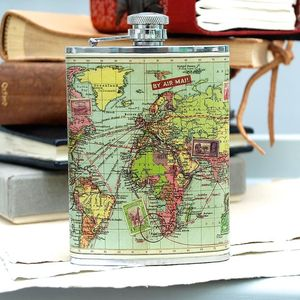 Map Hip Flask - men's sale