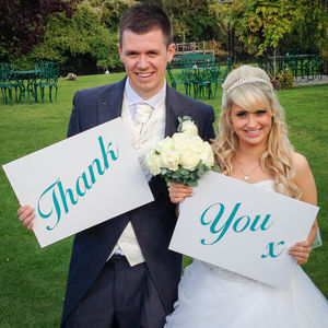 'Thank You' Wedding Sign Props - outdoor wedding signs