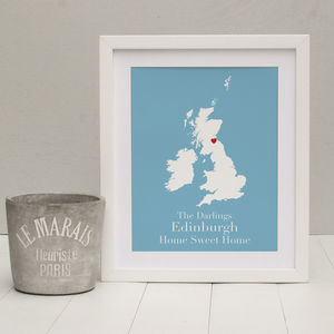 'Home Sweet Home' Personalised Print - art & pictures