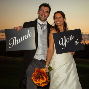 'Thank You' Wedding Sign Props