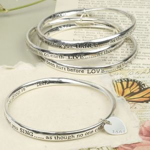 Personalised Meaningful Word Bangle