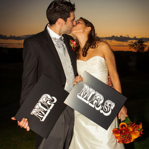 'Mr And Mrs' Wedding Sign Props - outdoor decorations