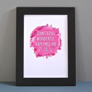 Personalised Watercolour Something Wonderful Print - personalised